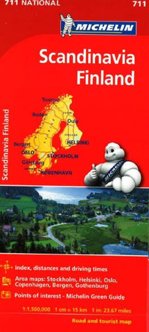 Buy map Scandinavia (711) by Michelin Maps and Guides