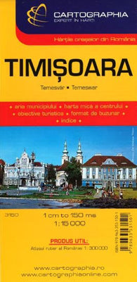 Buy map Timisoara, Romania by Cartographia