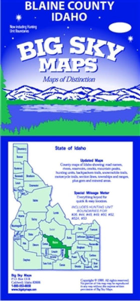 Buy map Blaine County, Idaho by Big Sky Maps