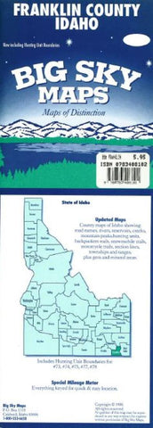 Buy map Franklin County, Idaho by Big Sky Maps