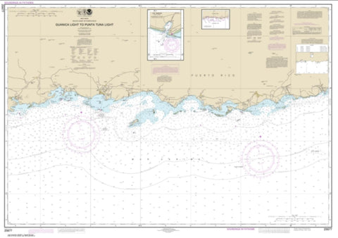 Buy map South Coast of Puerto Rico Guanica Light to Punta Tuna Light; Las Mareas (25677-22) by NOAA