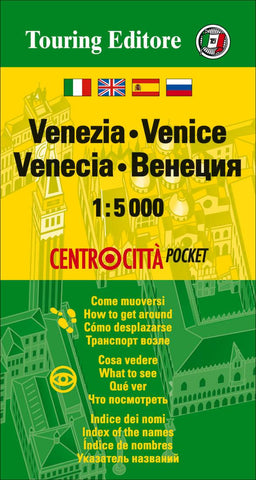 Buy map Venice, Italy Pocket Map by Touring Club Italiano