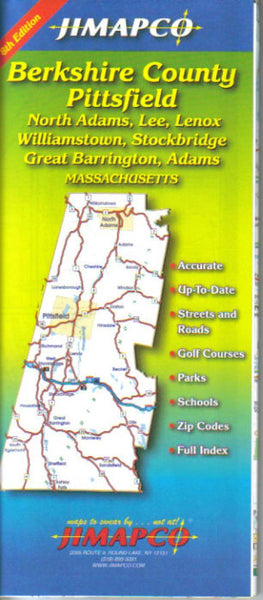 Buy map Berkshire County, Massachusetts by Jimapco