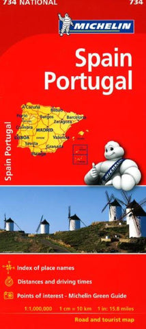 Buy map Spain and Portugal (734) by Michelin Maps and Guides