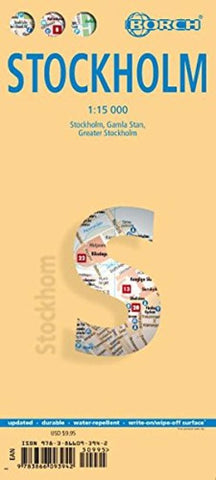 Buy map Stockholm, Sweden by Borch GmbH.