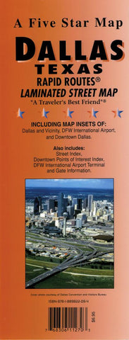 Buy map Dallas, Texas Rapid Routes by Five Star Maps, Inc.