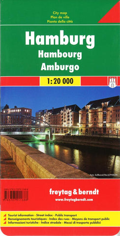 Buy map Hamburg, Germany by Freytag-Berndt und Artaria