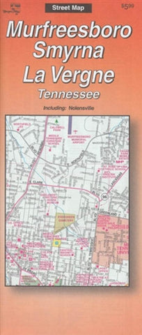 Buy map Murfreesboro, Smyrna, and La Vergne, Tennessee by The Seeger Map Company Inc.