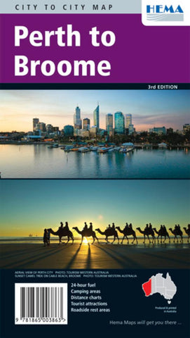 Buy map Perth to Broome, Australia by Hema Maps