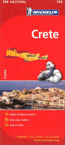 Buy map Crete, Greece (759) by Michelin Maps and Guides
