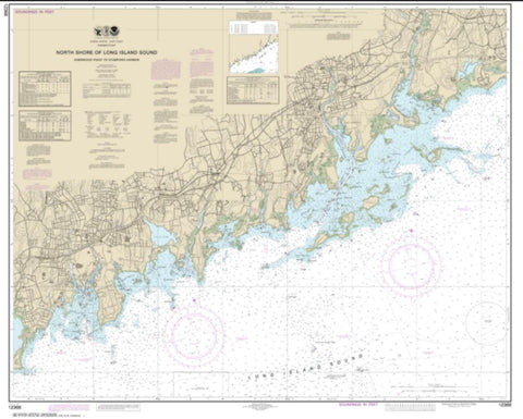 Buy map North Shore of Long Island Sound Sherwood Point to Stamford Harbor (12368-28) by NOAA
