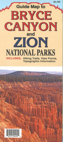 Buy map Bryce Canyon and Zion National Parks Guide Map by North Star Mapping