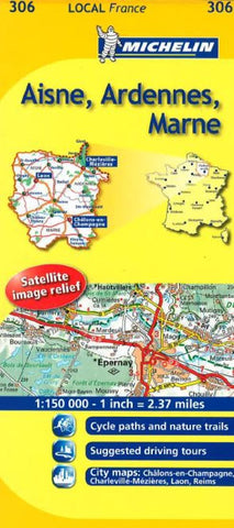 Buy map Aisne, Ardennes, Marne (306) by Michelin Maps and Guides