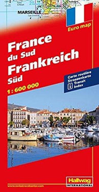 Buy map France, South, Road Map by Hallwag