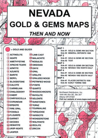 Buy map Nevada, Gold and Gems, 5-Map Set, Then and Now by Northwest Distributors