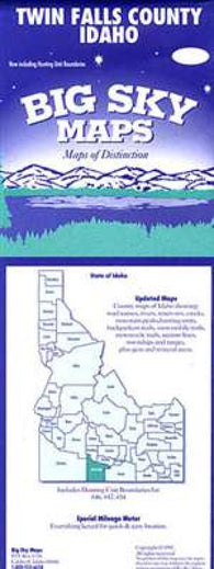Buy map Twin Falls County, Idaho by Big Sky Maps