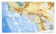 Buy map California, Southern, Physical Wall Map by Raven Maps