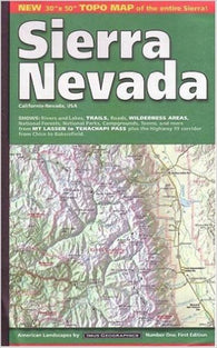 Buy map Sierra Nevada, California and Nevada by Imus Geographics