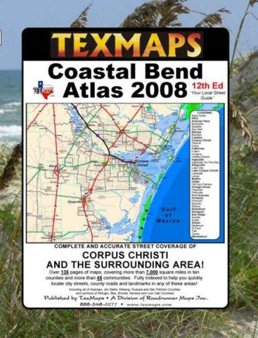 Buy map Corpus Christi, Texas Area Atlas by Texmaps