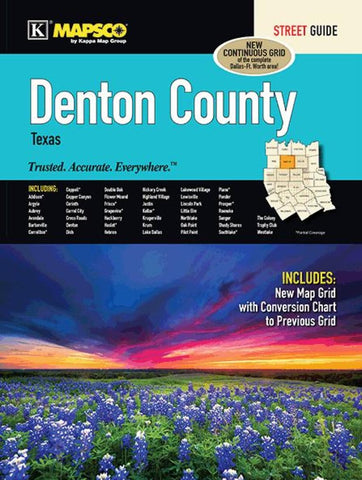 Buy map Denton County, Texas, Street Guide by Kappa Map Group