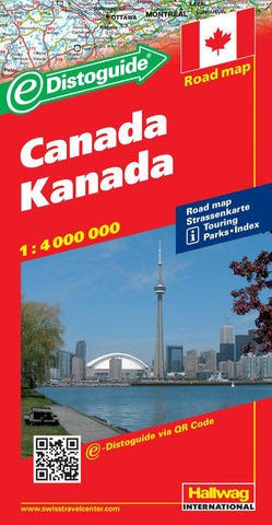 Buy map Canada with Distoguide by Hallwag