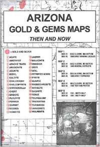 Buy map Arizona, Gold and Gems, 5-Map Set, Then and Now by Northwest Distributors