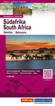 Buy map South Africa, Namibia, Botswana, Road Map by Hallwag