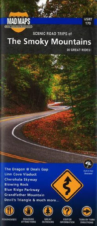 Buy map Smoky Mountains, Regional Scenic Tours by MAD Maps