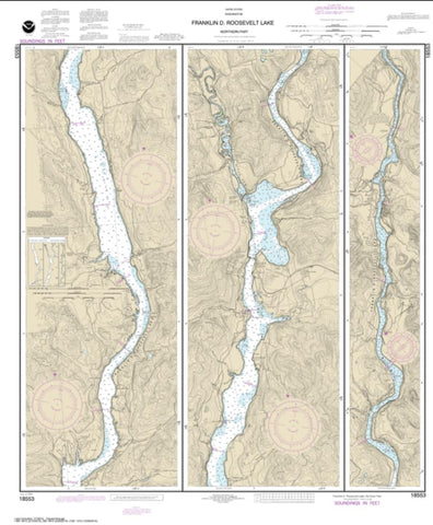 Buy map FRANKLIN D. ROOSEVELT LAKE Northern part (18553-7) by NOAA