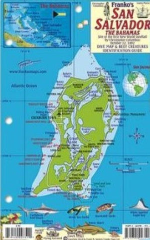 Buy map Bahamas Fish Card, San Salvador Island 2011 by Frankos Maps Ltd.