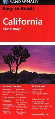 Buy map California by Rand McNally