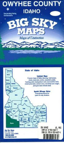 Buy map Owyhee County, Idaho by Big Sky Maps