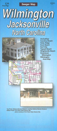 Buy map Wilmington, North Carolina Street Map by Seeger Map Company