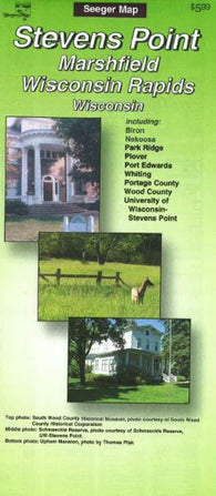 Buy map Stevens Point, Marshfield and Wisconsin Rapids, Wisconsin by The Seeger Map Company Inc.