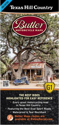 Buy map Texas Hill Country Map by Butler Motorcycle Maps