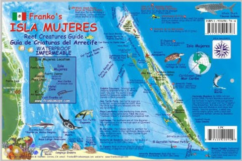 Buy map Caribbean Fish Card, Isla Mujeres 2008 by Frankos Maps Ltd.