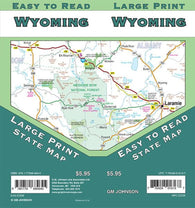 Buy map Wyoming, Large Print State Map by GM Johnson