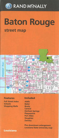 Buy map Baton Rogue, Shreveport and Bossier City, Louisiana Street Map by Rand McNally