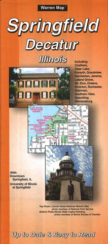 Buy map Springfield and Decatur, Illinois by The Seeger Map Company Inc.