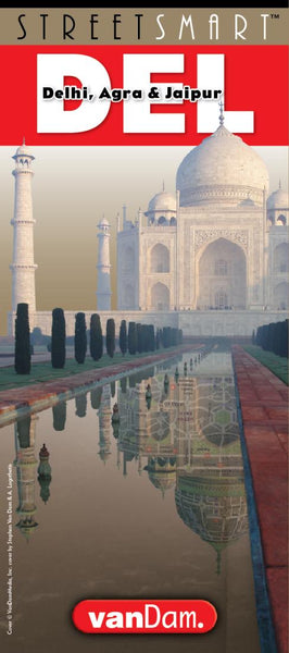 Buy map Delhi, Agra, and Jaipur, India, StreetSmart by VanDam