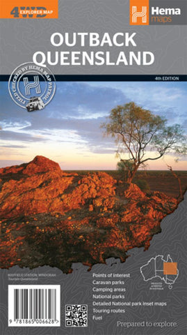 Buy map Queensland, Australia, Outback by Hema Maps