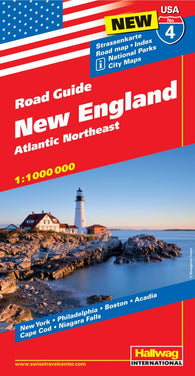 Buy map USA 4-New England and the Atlantic Northeast by Hallwag