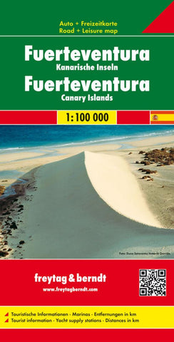 Buy map Fuerteventura, Spain by Freytag-Berndt und Artaria