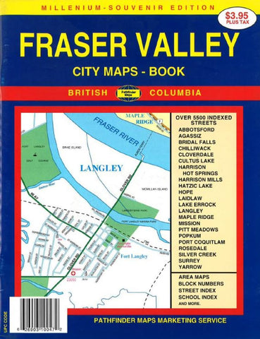 Buy map Fraser Valley, BC, Canada, Atlas by GM Johnson