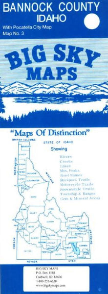 Buy map Bannock County, Idaho with Pocatella city map by Big Sky Maps