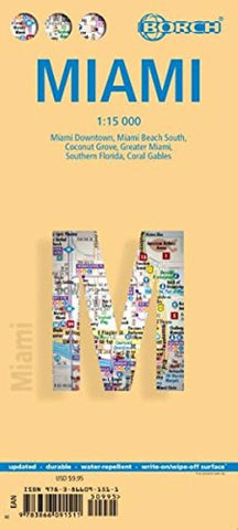 Buy map Miami, Florida by Borch GmbH.
