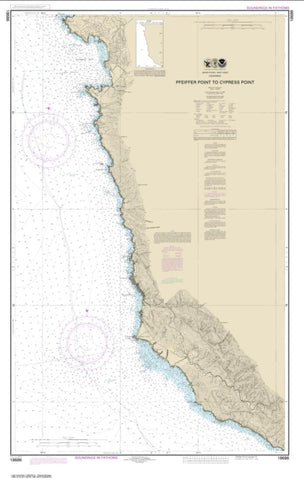 Buy map Pfeiffer Point to Cypress Point (18686-14) by NOAA