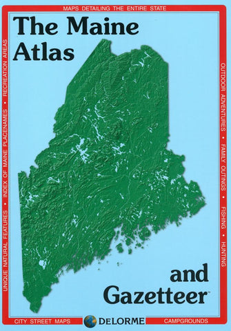 Buy map Maine Atlas and Gazetteer by DeLorme