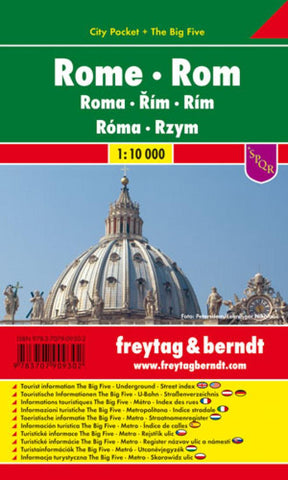 Buy map Rome, Tourist Pocket Map by Freytag-Berndt und Artaria