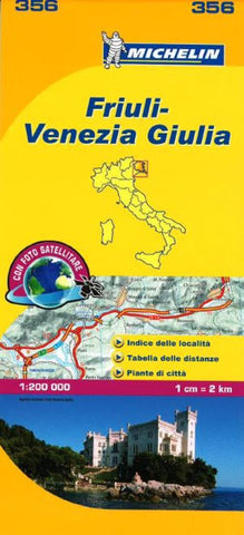 Buy map Friuli Venezia Giulia, Italy (356) by Michelin Maps and Guides